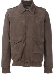Daniele Alessandrini Pocketed Zip Up Jacket Grey