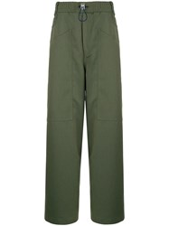 Sunnei Loose Fit Elasticated Trousers Green