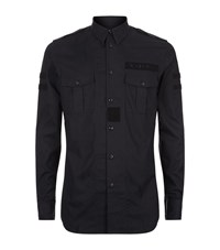 Givenchy Velcro Military Shirt Male Black