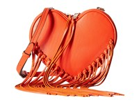 Rebecca Minkoff Heart Fringe Crossbody Poppy Red Cross Body Handbags