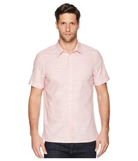 Perry Ellis Short Sleeve Solid Slub Texture Shirt Himalayan Pink Clothing
