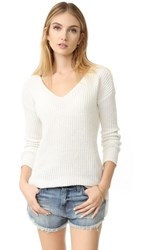 Bb Dakota Zona Boyfriend Sweater Dirty White
