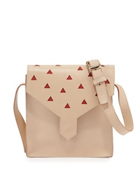 Margot Leather Cutout Shoulder Bag Natural Lauren Merkin