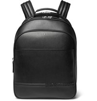 Montblanc Extreme Cross Grain Leather Backpack Black