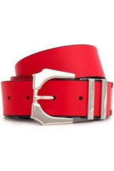 Versus By Versace Woman Embellished Leather Belt Tomato Red
