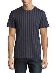 Selected Tonal Striped Tee Ombre Blue