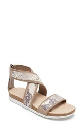 Women's Rockport 'Motion Romilly Gore' Sandal Roccia Leather