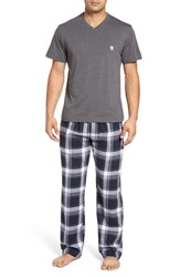Majestic International Men's T Shirt And Lounge Pants Charcoal Heather