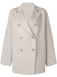 Acne Studios Double Breasted Coat Neutrals