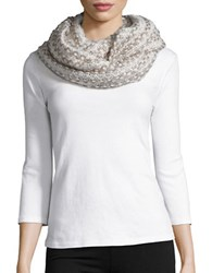 Joolay Knit Infinity Loop Scarf Ivory