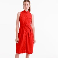 J.Crew Tiered Fatigue Shirtdress