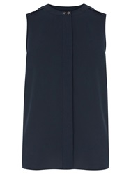 Warehouse Tab Shoulder Shell Top Navy