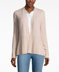 Charter Club Cashmere Ribbed Peplum Cardigan Only At Macy's Blush Heather