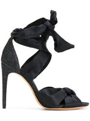 Alexandre Birman Tied Heeled Sandals Silk Leather Polyamide Black
