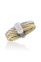 Women's Alor Two Tone Station Diamond Ring