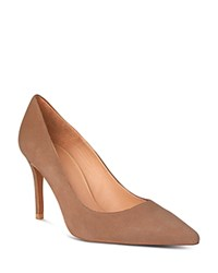 Whistles Women's Cornel Suede Pointed Toe Pumps Nude