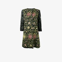 By Walid Floral Embroidered Coat Black