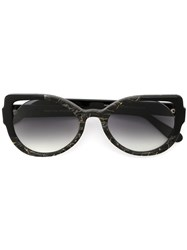 Martha Medeiros Cat Eye Sunglasses Black