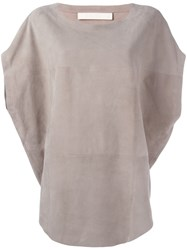 Drome Panelled Blouse Nude Neutrals