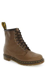 Dr. Martens Men's '1460' Plain Toe Boot Grenade Green Leather