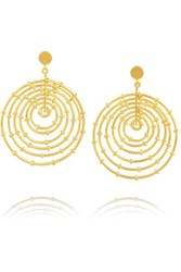 Arme De L'amour Bamboo Gold Plated Hoop Earrings One Size