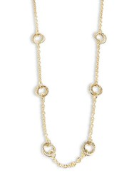Lauren Ralph Lauren Circle Charm Station Necklace Gold