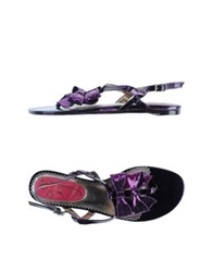 Poetic Licence Thong Sandals Purple