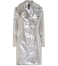 Simon Miller Metallic Leather Coat Silver