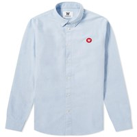 Wood Wood Ted Oxford Shirt Blue