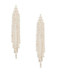 Rj Graziano Goldtone Crystal Chandelier Earrings