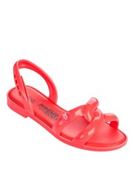 Melissa Tube Sandals Plus Jeremy Scott Neon Orange