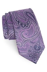 Nordstrom Men's Lifeline Paisley Silk Tie Purple