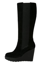 Calvin Klein Jeans Sequin High Heeled Boots Black