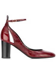 Michel Vivien Block Heel Pumps Red