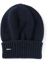 Dsquared2 Slouch Fit Beanie Blue
