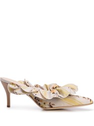 Brother Vellies Frilled Mules Yellow