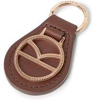 Kingsman Deakin And Francis Leather And Rose Gold Plated Key Fob
