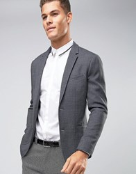 Jack And Jones Premium Slim Fit Jersey Blazer Dark Grey