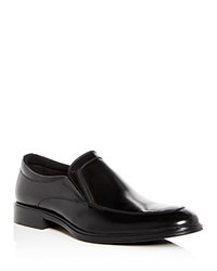 Kenneth Cole Men's Tully Leather Apron Toe Loafers Black