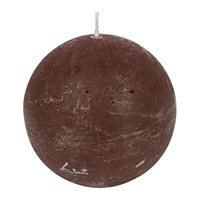 Amara Rustic Spherical Candle Chestnut