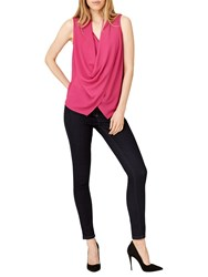 Damsel In A Dress Evelina Cowl Lace Back Blouse Magenta