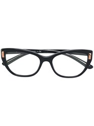 Bulgari Side Stud Squared Glasses Acetate Metal Black