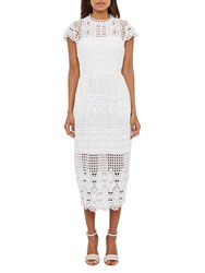 Ted Baker Scalloped Lace Tunic Dress White