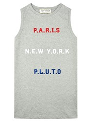 Etre Cecile Paris New York Pluto Oversized Tank Grey