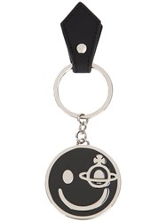 Vivienne Westwood Smiley Keyring Women Enamel Metal Grey One Size