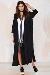 Nasty Gal Pippa Lynn Rain Down Trench Coat Black