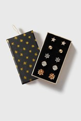 Topshop Christmas Stud Earring Pack Clear