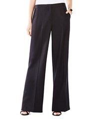 Bcbgmaxazria Anthony Wide Leg Trousers Black