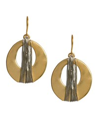 Kenneth Cole Goldtone Wire Wrapped Oval Drop Earrings