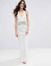 Asos Ladder Knotted Jersey Maxi Beach Dress White